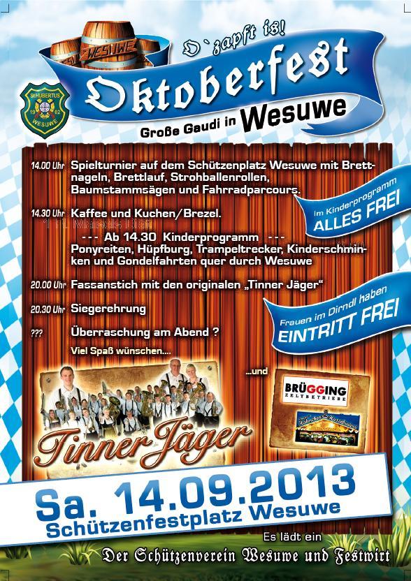 Oktoberfest Wesuwe 2013